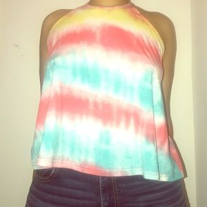 Tye dye loose tank top